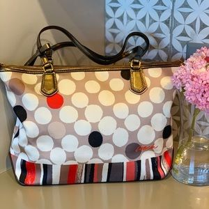 Coach Polka Dot Hand Bag